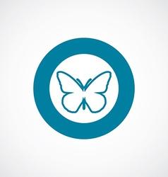 Butterfly icon bold blue circle border vector