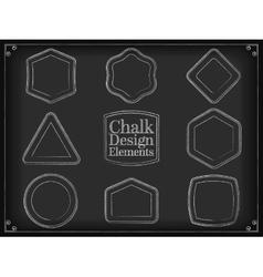 chalk design elements vector image