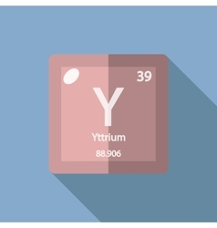 Chemical element Yttrium Flat vector image vector image