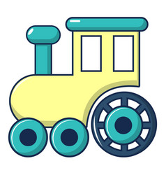 Children train for walks icon cartoon style vector