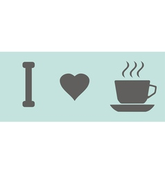 coffee cups love vector image