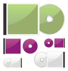 Compact disks vector