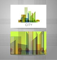 Eco city logo vector
