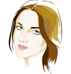 Female portrait in colour vector image vector image