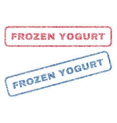 Frozen yogurt textile stamps vector