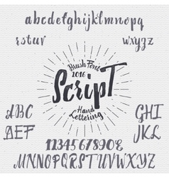 Hand drawn font handwriting brush vector image