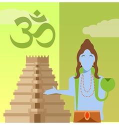 Hindu flat icon2 vector