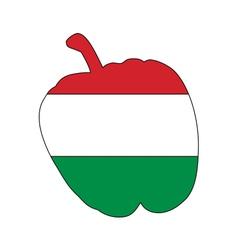 Hungarian pepper vector