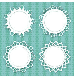 lacy frames vector image vector image