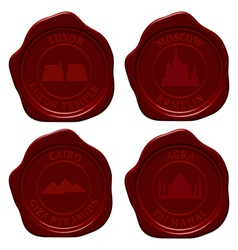 landmark sealing wax set vector image vector image