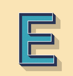 letter e retro text style fonts concept vector image vector image