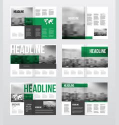 magazine or catalog template vector image