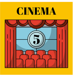 movies and cinema concept art vector image