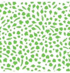 Natural floral seamless pattern with leaves vector image