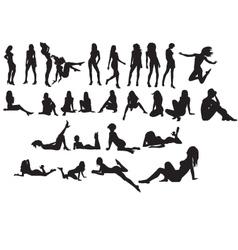 Nude silhouette vector