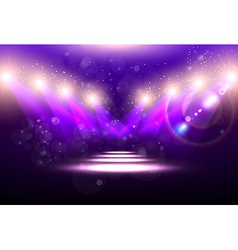 Purple spotlight background vector