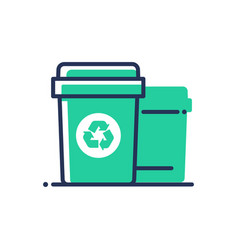 Recycle bin - modern single line icon vector
