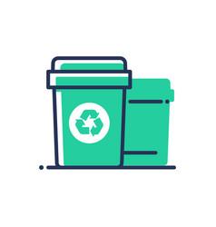 Recycle bin - modern single line icon vector