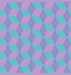 seamless abstract pattern with cube construction vector image