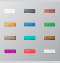 Set of bricks vector