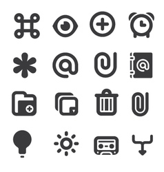 Set of multimedia icons 1 vector image vector image