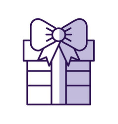 Shadow cute purple gift cartoon vector