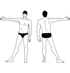 standing naked man vector image