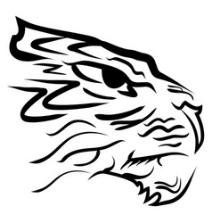 Stylized image tiger head vector