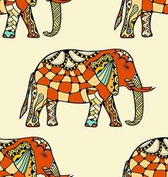 stylized Indian Elephant vector image