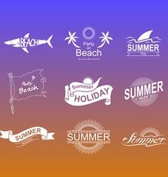 Summer symbols set vector image vector image