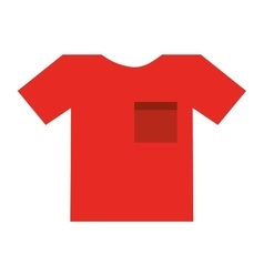 t-shirt model isolated icon design vector image