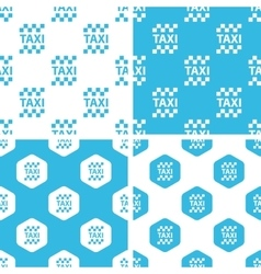 Taxi patterns set vector