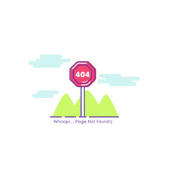 Traffic sign page 404 not found vector