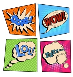 Vintage Pop Art Comic Speech Bubble Set vector image