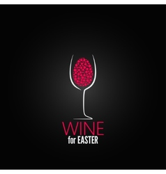 wine easter design background vector image vector image