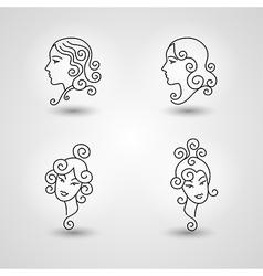 Womans head vector
