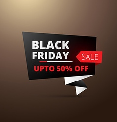 Black friday sale in origami style vector