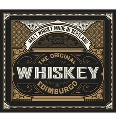 Whiskey label with old frames vector