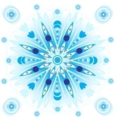 Blue mandala vector