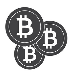 Crypto currency icon vector