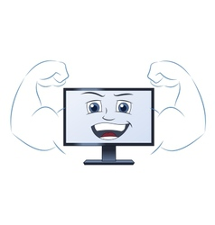 Smiling powerful computer vector
