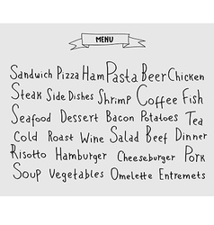 Set of hand drawn menu elements vector