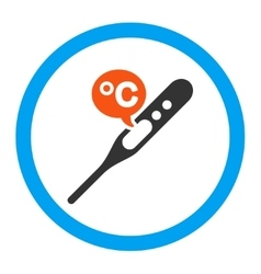 Celsius temperature rounded icon vector