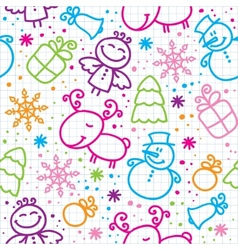 Christmas hand drawn seamless pattern vector