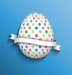 polka dot easter egg background 0703 vector image