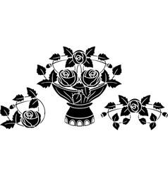 Rose stencil vector