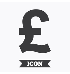 Pound sign icon gbp currency symbol vector