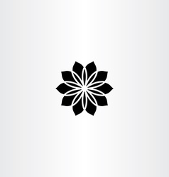 Black icon flower abstract vector
