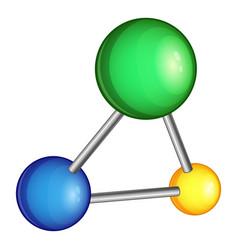 chemistry molecule icon cartoon style vector image vector image