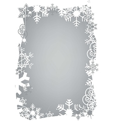 Christmas snowflakes grunge frame vector